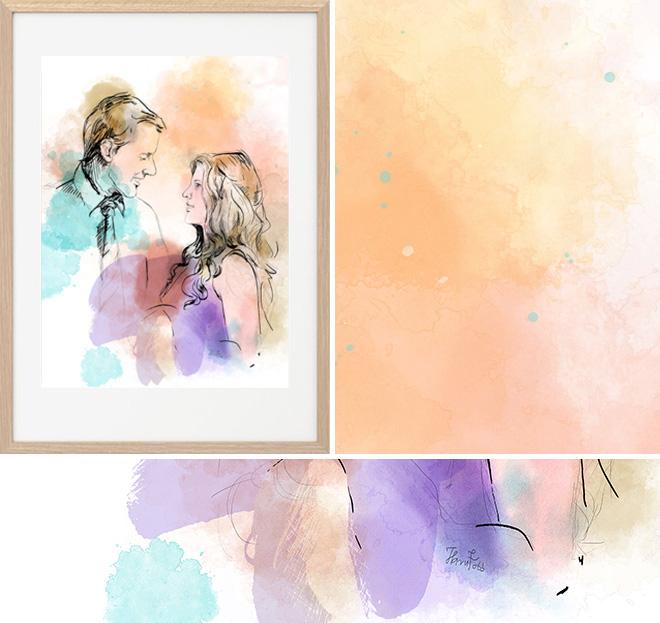 festmény ajándék esküvőre