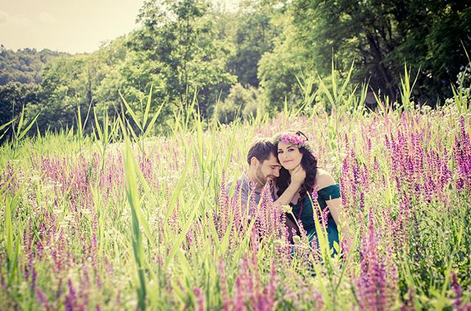 romantikus jegyes fotózás