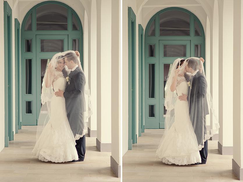 kreatív esküvői pár fotó