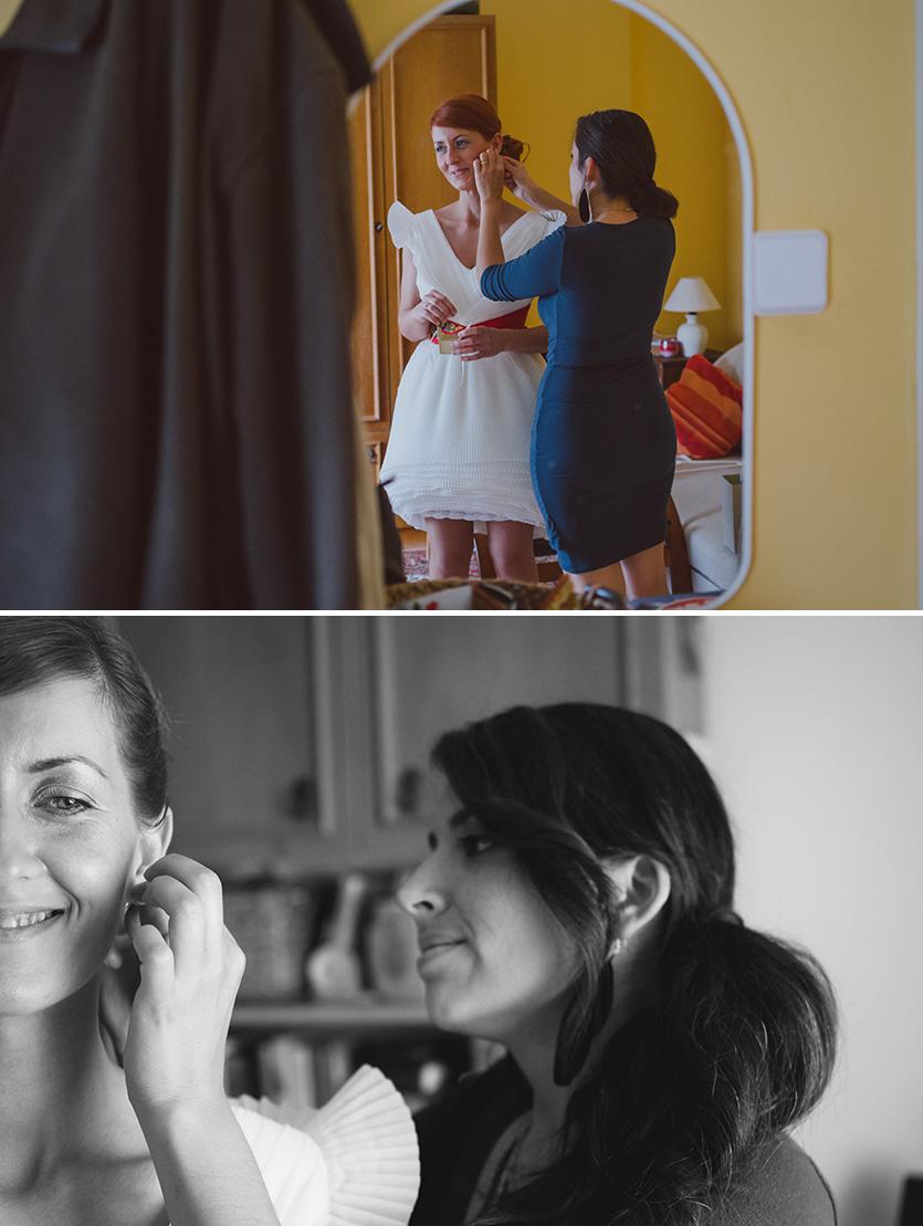 készülődés az esküvőn