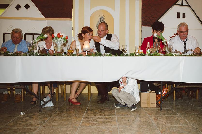 esküvői vacsora pillanat fotó