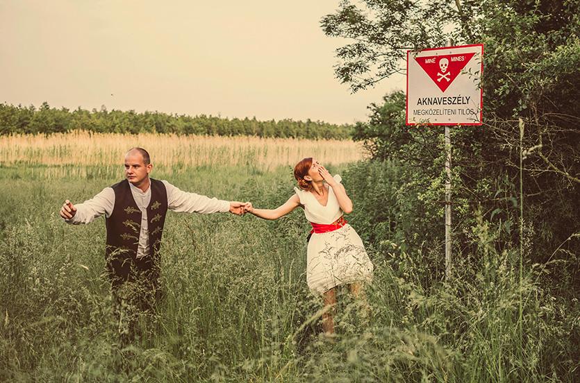 vicces esküvői fotózás