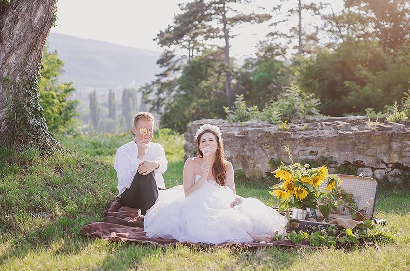piknik esküvői fotózás