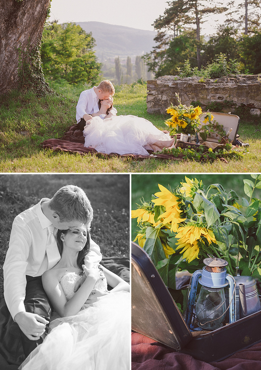 vintage piknik esküvői fotózás