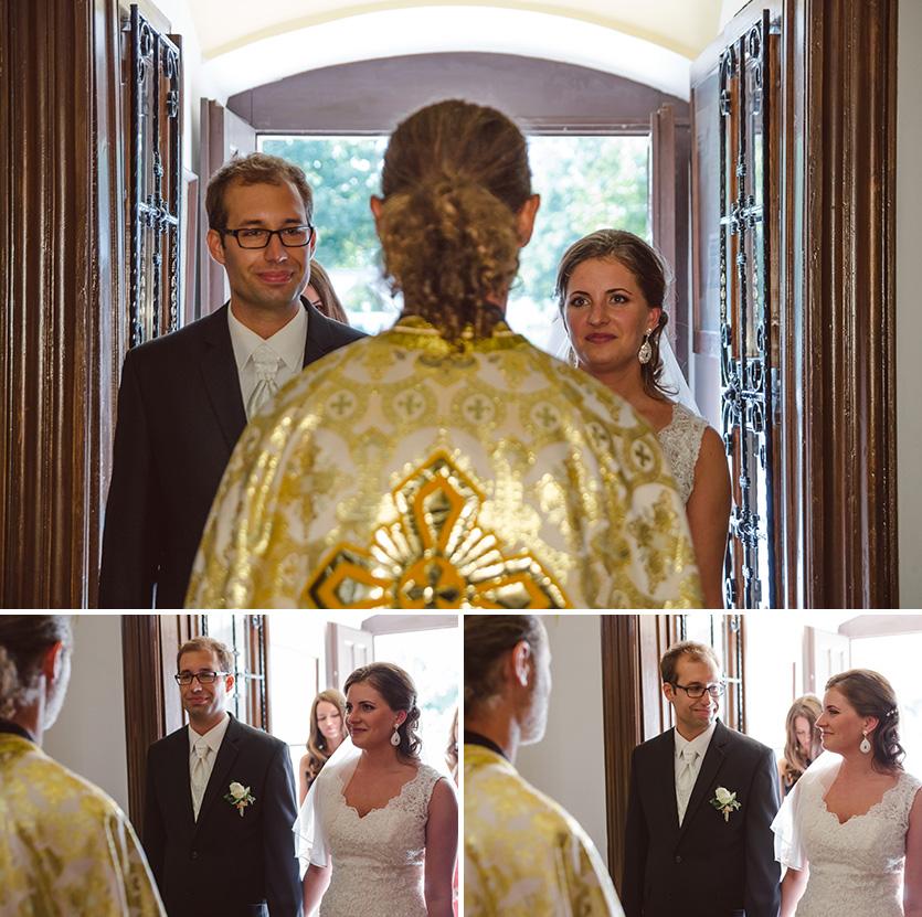 esküvői fotó a Xavér templomban