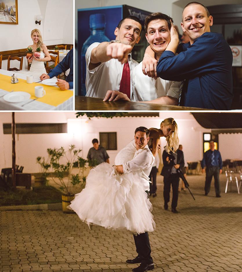 vidám esküvő fotó