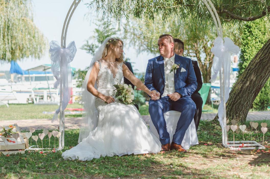 esküvői virágos fotó