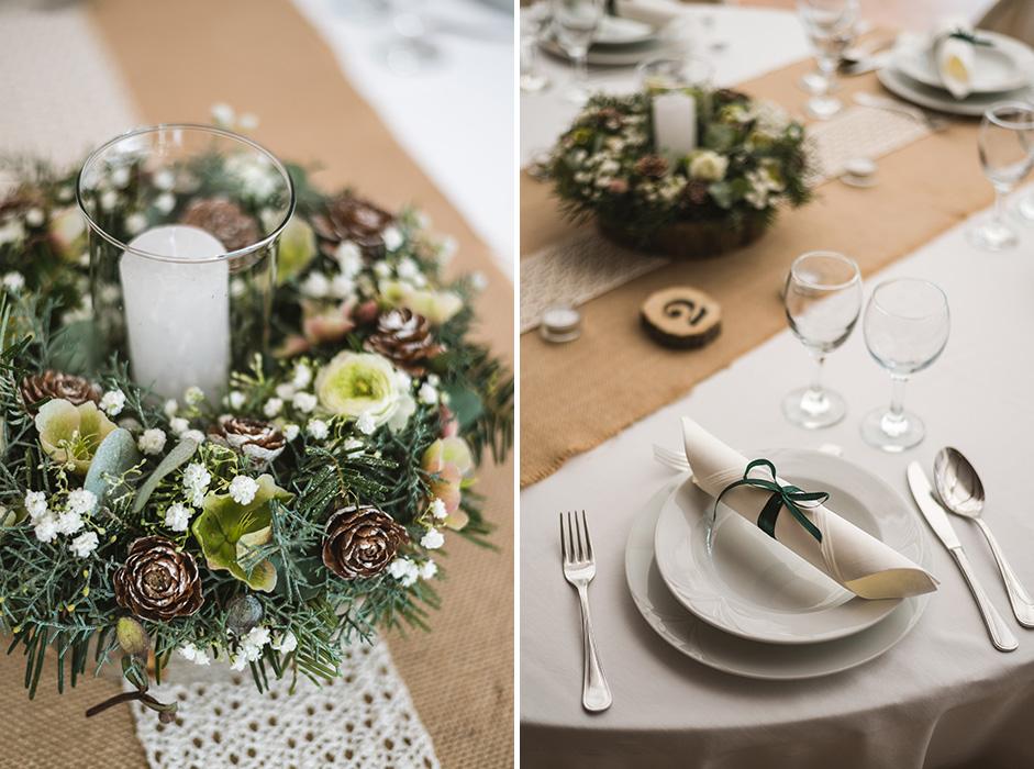 fresh cut esküvői dekoráció