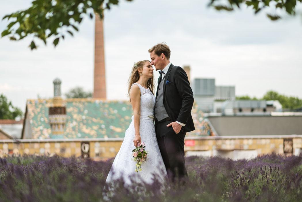 esküvői fotó levendulában